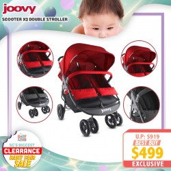 baby-fairJoovy Scooter X2 Side by Side Double Stroller FREE 1 Year Warranty!!
