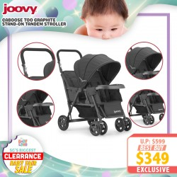 baby-fairJoovy Caboose Too Graphite Stroller FREE 1 Year Warranty