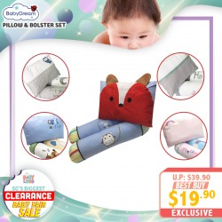 baby-fairBabydream 3-In-1 Pillow and Bolster Set